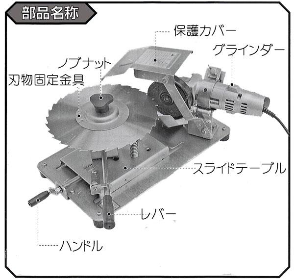 30枚笹刈刃専用研磨機の使い方7